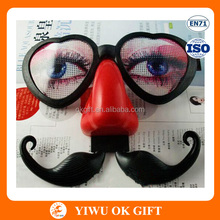 Wholesale Party Decoration Funny Beard Red Nose Glassess