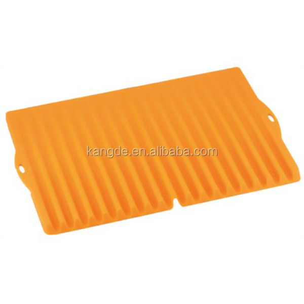 2015 best selling silicone draining board, multi purpose silicone dish drainer mat,silicone sink drainer tray