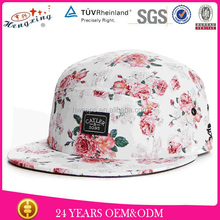 floral fabric custom whoelsale 5 panel camper hat blank design