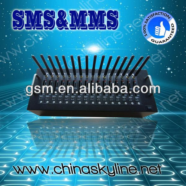 RJ45/USB connection 16 port gsm modem/SMS modem support linux/gprs express wireless modems