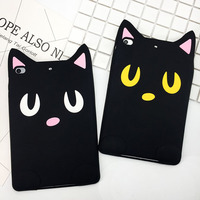 3D Cartoon Cute Silicon Case For iPad Mini 2 3 4 Child Tablet PC Case