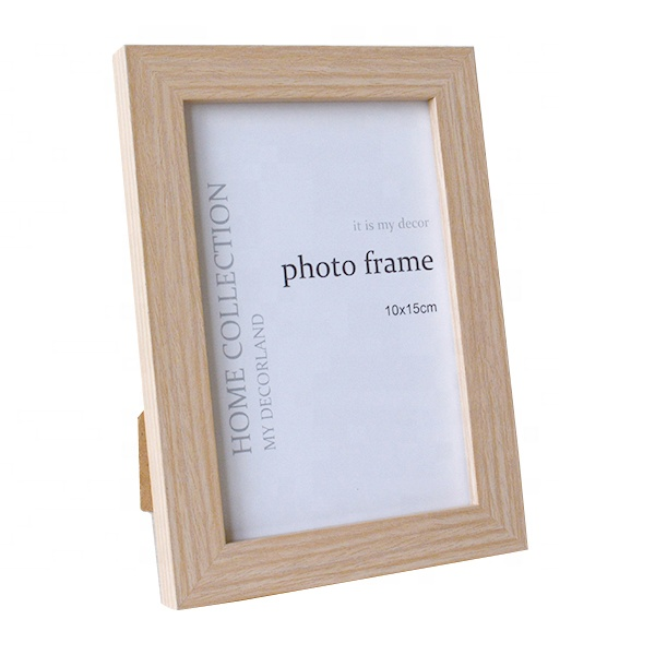 6x8 inch Wood Home Decoration Accessories standing light yellow wooden picture Photo Frames