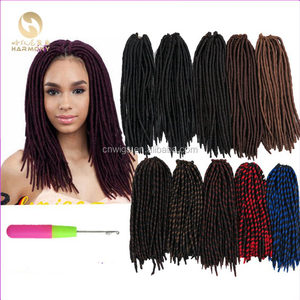 "large stock 12"" 24strands faux locks crochet hair extensions synthetic pre crocheted faux locks hair"