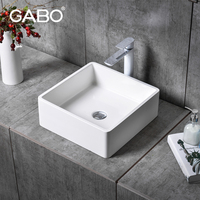 Bathroom Counter-Top White Wash Basin Free Stands
