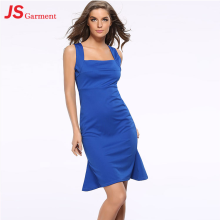 JS 20 Women Casual Sexy Summer Ladies One Piece Dress Special Round Neck Design 707