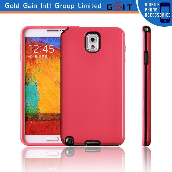 TPU cell phone skin case for samsung for note 3 protective case back cover with tpu+pc material
