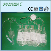 Sterile Quadruple blood bag transfusion sets with leukocyte filter