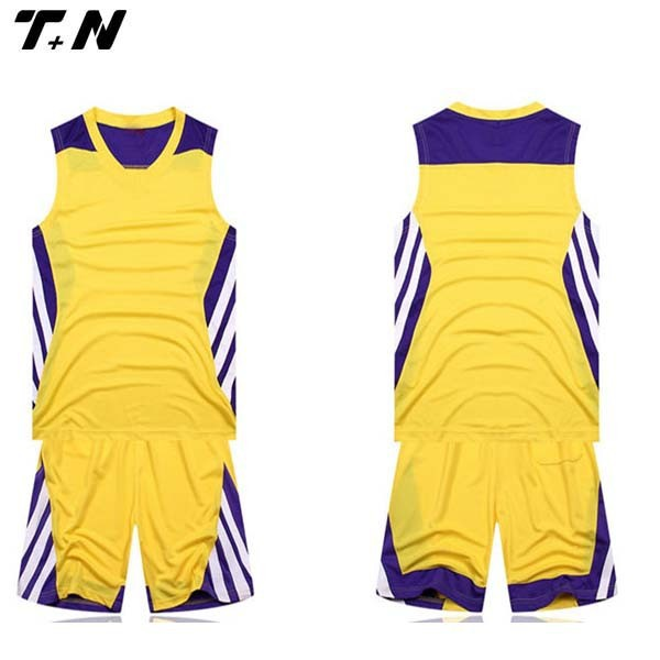Sublimated cool yellow basketball jersey designs