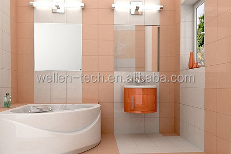 wall mounted bathroom/room floor heating thermostat system