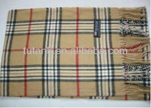 Cashmere Feel Unisex Pashmina Scarf in Checks and Plaid