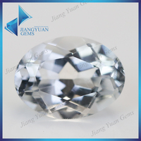 2014 New product high quality white oval natural topaz gemstone