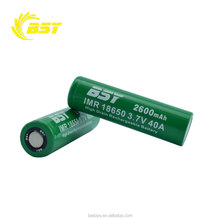 High quality BSY 18650 cell battery 3.7V 2600mAh li battery with v mount battery