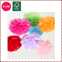 crepe paper christmas decorations pompom alibaba china supplier