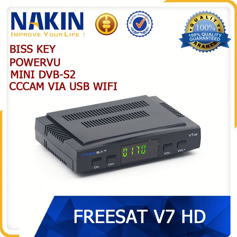 Stable Freesat V8 Golden Satellite Receiver DVB-S2+DVB-T+Cable 1080p HD satellite receiver With Cccam