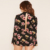 Factory Price Fashion Romper Keyhole Cutout Floral Playsuit,Stylish Dress Women Ladies