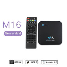 7.0 android smart tv box M16 1+8G Amlogic S905X smart tv box android universal set top box