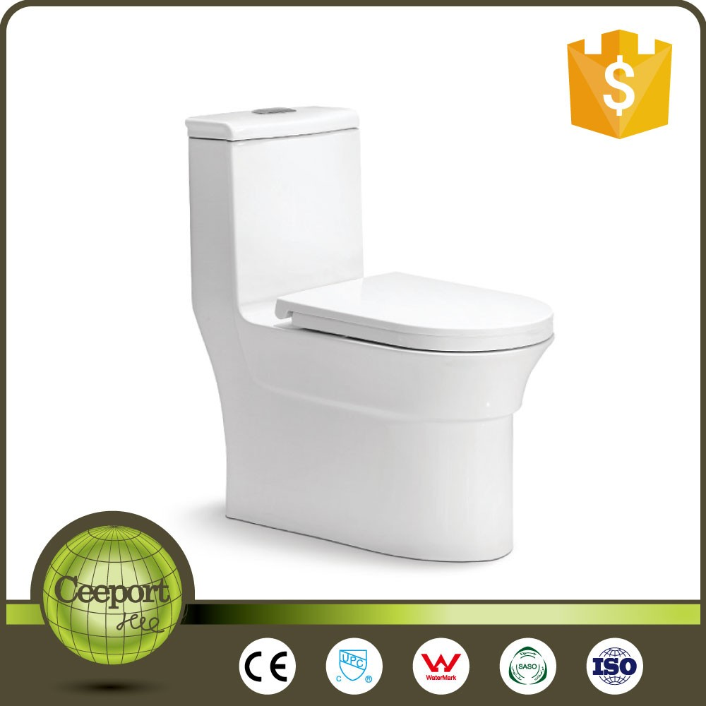 c-15 eramic One Piece Siphon Flushing Chemical Toilet for Home