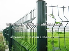Galvanized And PVC Welded Curved Fence