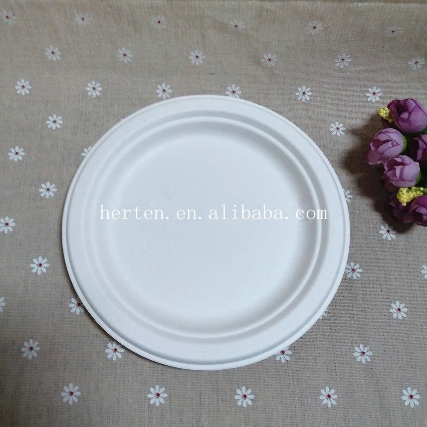 Disposbale Biodegradable Bagasse Sugar Cane 5 Compartments Food Container plate clamshell ecoware friendly