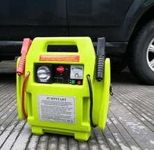 12V jump starter with air compressor multi-functional power station emergency car jump starter