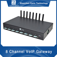 gsm modem 8 sim card slots goip voip http gsm sms sending device gateway with AT command