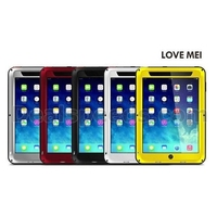 LOVE MEI Waterproof Shockproof Powerful Metal+Aluminium+Gorilla Glass Hybrid Case for iPad Air