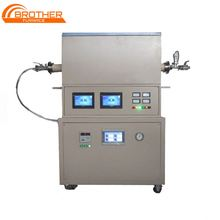High Quality Low Cost Programmable High Temperature 1800 Celsius vacuum tube furnace