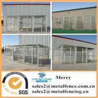 5'X10'X6' heavy duty 3-runs galvanized steel dog pens enclousures outdoor welded mesh dog kennels
