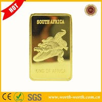 Wholesale Alibaba crocodile shape 1 OZ gold bar, 24K Gold Clad Bullion Bar in 999 Fine Gold for gift