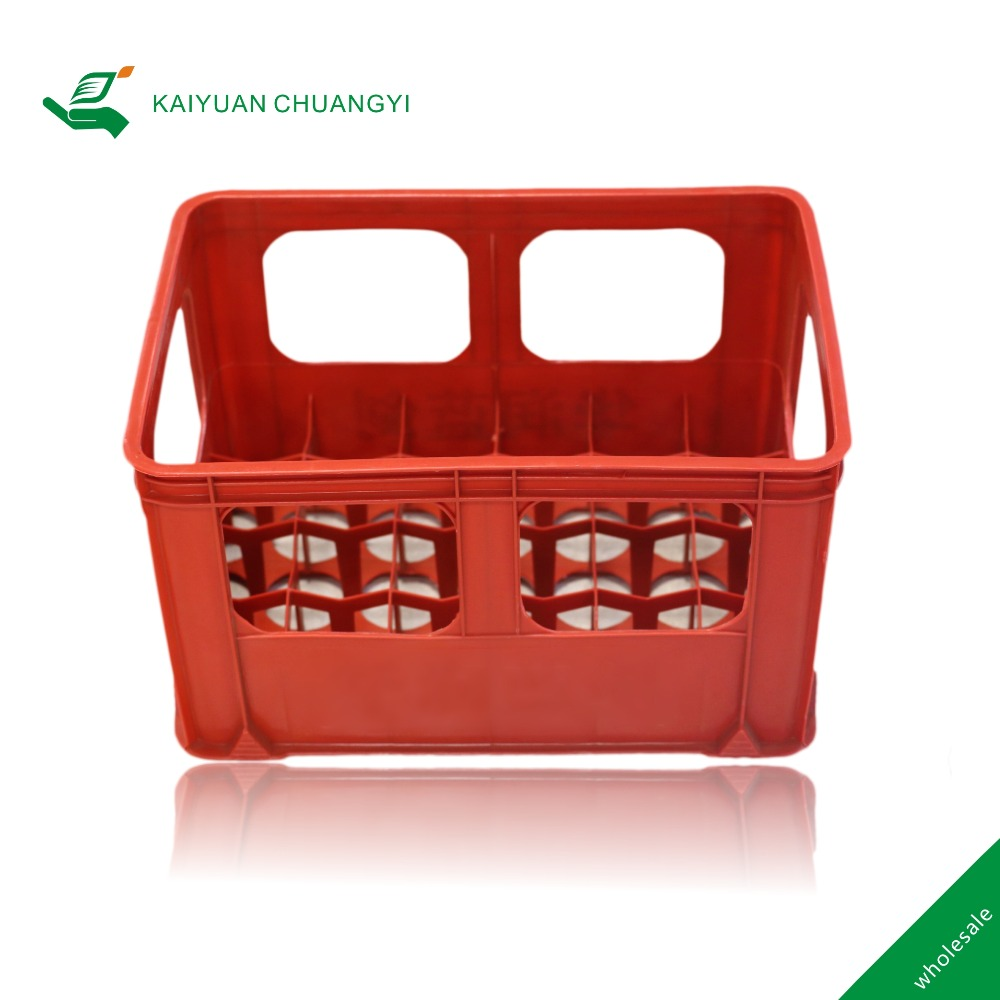 Factory supply beverage crates 24 bottle beer plastic basket