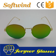 CE Certification Metal Men Mirror Sunglasses 2017 new style OEM lens color mirror gradient or polarized all available
