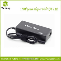 120W auto universal USB ac laptop adapter 5v 500mA for home use