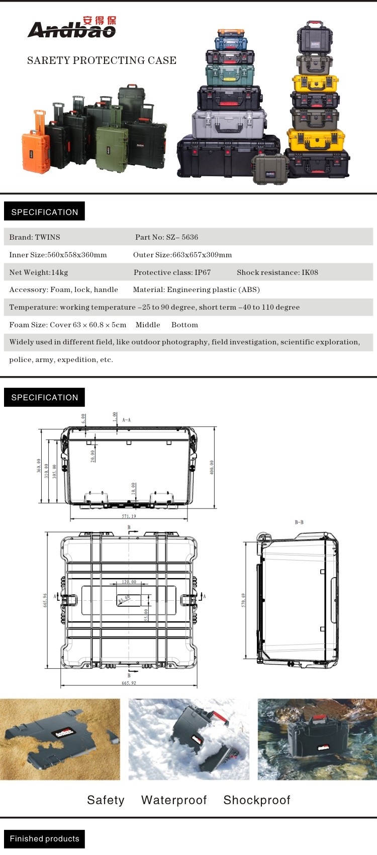 safety crushproof tool case