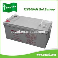 High quality 12v 200ah gel battery for 250w solar panel,off grid solar panel system