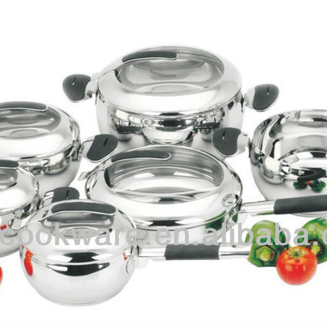 12pcs apple shape stainless steel casserole with colorful silicone handle