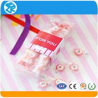 Transparent clear plastic tube packaging for candy