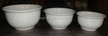 5'. 6'.7' 3ps small white ceramic bowl sets