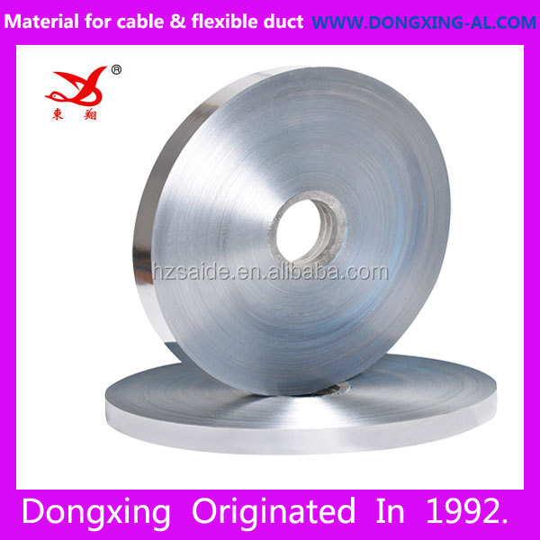 china dongxing PET coated aluminum foil for cable wrap shield