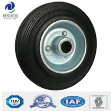 5 inch caster heavy duty solid rubber wheels