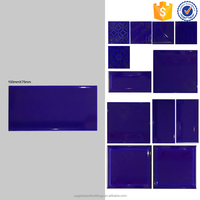 75x150 glazed ceramic purple blue bathroom facing brick wall tile