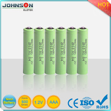 AAA/AA 1.2V smallest battery 500 cycle times NIMH rechargeable batteries