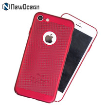 Newest full covered edge PC Net heat proof phone case cover for iphone 7 case
