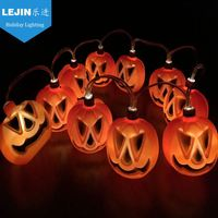 Decorative Halloween pumpkin shape led string lights