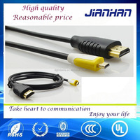 Reasonable price HDMI a male to micro male hdmi cable for HDTV