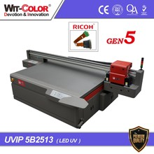 wit color 2.5 m by 1.3 m High Resolution Flatbed Printing Machine UVIP-5B2513 LED UV Printer