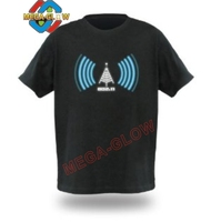 hot sell party supply sound active led flashing EL T shirt