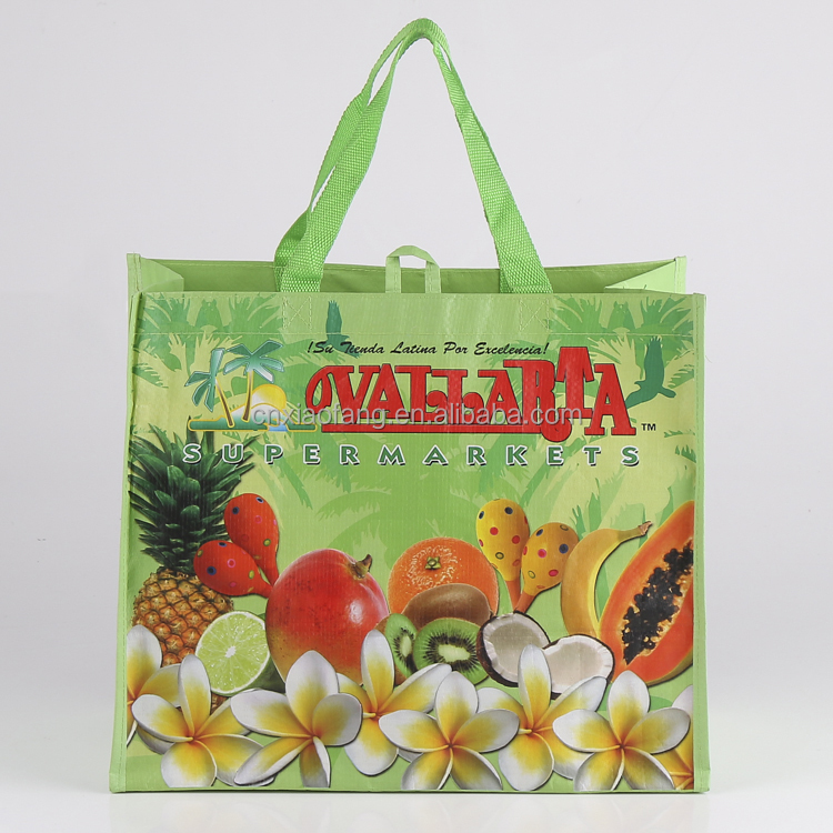 The most promotional laminated polypropylene tote bag/laminated bag