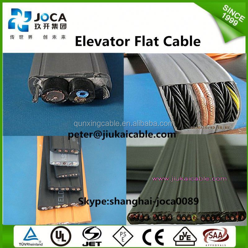 H05VVH6-F Flat Crane electric used lift Cat6 cable
