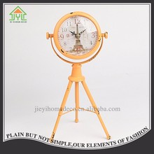 Hot Buy Nice Design Orange Color Table Floor Clock Antique