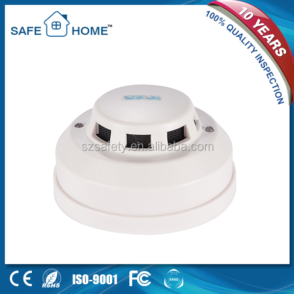 Dusproof white wire optical electric smoke detector wireless smoke detector